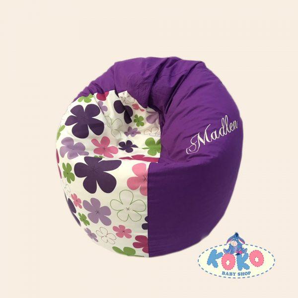 Барбарон различни размери Purple flowers | Baby Shop Koko