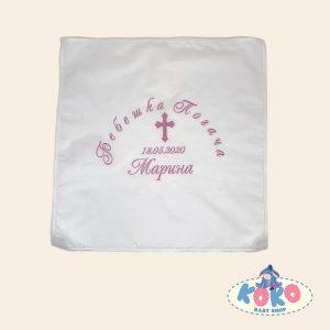 Бебешка погача с бродерия кръст | Baby Shop Koko