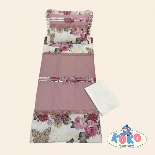 Спален комплект в пепел от рози и десен на цветя   Baby Shop Koko